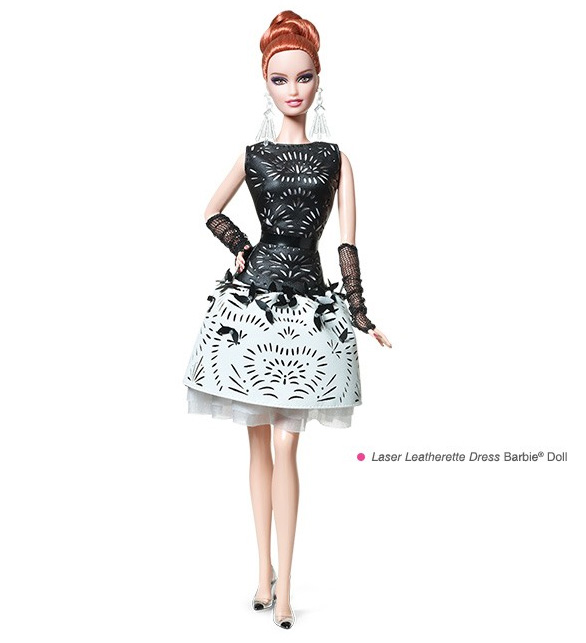 Laser Leatherette Dress Barbie Platinum Doll
