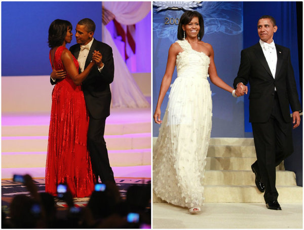 Michelle Obama con vestidos de Jason Wu